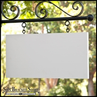 "46"" x 23"" Rectangle Sign Blank - Square Corners"