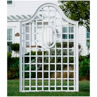 """47""""W x 72""""H Queen Anne Composite Trellis with Oval"""