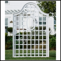 "47""W x 72""H Queen Anne Composite Trellis with Oval"