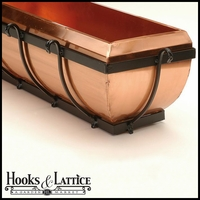 Copper Scroll Window Box