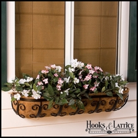 "48"" Deluxe Mariposa Window Basket w/ Std. Liner"