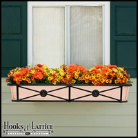 "48"" Medallion Decora Window Boxes w/ Real Copper Liner"