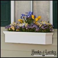 "48"" Newport Premier Window Box w/ *Easy Up* Cleat Mounting System"