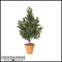 "48"" Outdoor Artificial Podocarpus Bush with Natural Trunk"