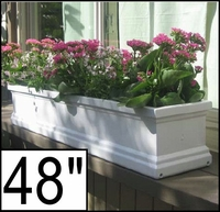 "48"" Supreme Petite Fiberglass Window Box"