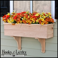 48in. Traditional Wood Planter Box