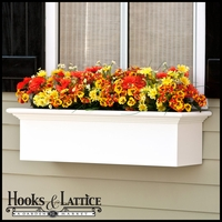 48in. XL Catalina Premier Window Box w/ *Easy Up* Cleat Mounting System