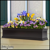 48in. Laguna Fiberglass Window Box - Black