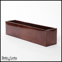 48in. Metal Window Box Liner, Oil-Rubbed Bronze Finish