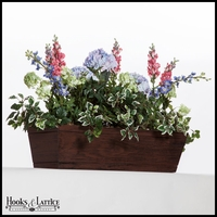 48in. Modern Farmhouse Window Box - Reclaimed Cherry Finish