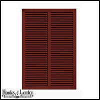 48in. Wide - Architectural Fiberglass Bahama Shutter w/ Hardware Kit