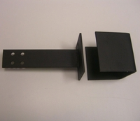 """4X4 Post Collar with 8"""" T-Strap Assembly"""