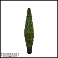 5.5', 6.5' or 7.5' Duraleaf Needle Pine Topiary Tree, Outdoor