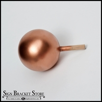 "5"" HDU Ball Finial with 5/8"" x 3"" Wood Dowel  - Copper"