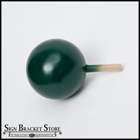 "5"" HDU Ball Finial with 5/8"" x 3"" Wood Dowel  - Dark Green"