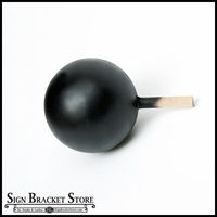 "5"" HDU Ball Finial with 5/8"" x 3"" Wood Dowel  - Matte Black"