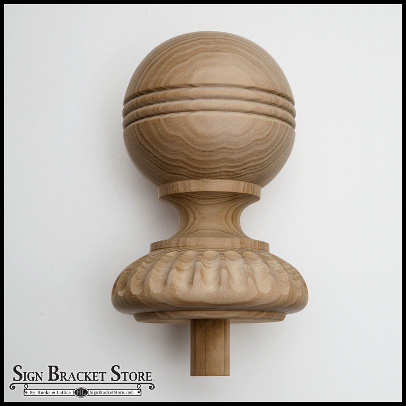 5 quot wood decorative finial furniture grade style d10
