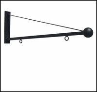 50in. Triangle Ball Hanging Blade Sign Bracket