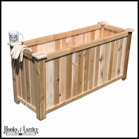 51in. Slatted Cedar Planter w/ Feet