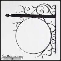 52in. Round Scroll Bavarian Fixed Frame Bracket w/ PVC Blank