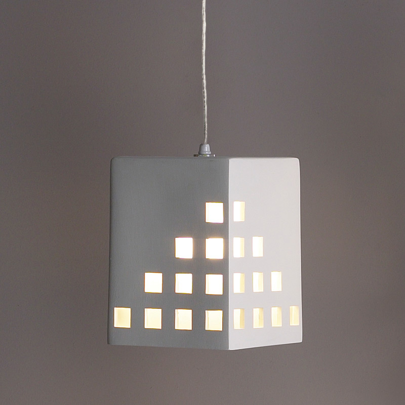 65 Block Pendant Light W Square Light Windows