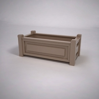 Raised Panel Premier Composite Commercial Planter 60in.L x 24in.W x 19in.H