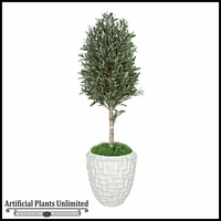 """60"""" Outdoor Artificial Olive Tree with Natural Trunk"""