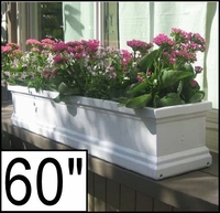 "60"" Supreme Petite Fiberglass Window Box"
