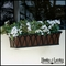 60in. Arch Decora Window Box w/ Textured Bronze Liner (Hammered Finish)
