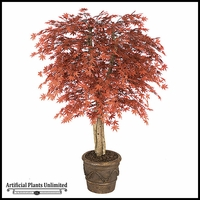 5' Artificial Outdoor Japanese Maple, Burgundy