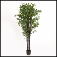 79in. Black Bamboo Cluster in Weighted Base, Indoor Rated
