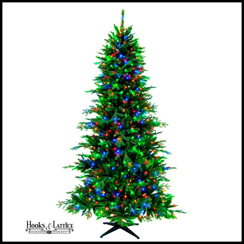 Artificial Multi Colored Lighted Christmas Tree