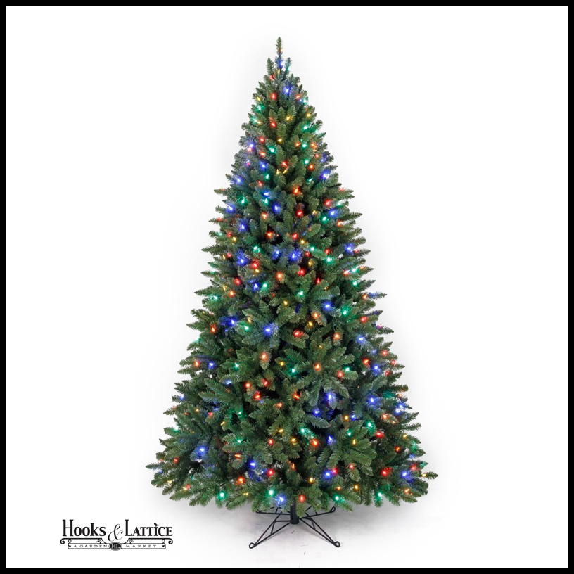 Artificial Christmas Trees Pre Lit Led: 7ft Spruce Artificial Christmas Tree
