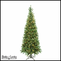 7.5 ft Norway Pre-Lit Spruce Artificial Christmas Tree w/ Clear Lights