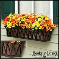 "72"" Arch Decora Window Box with Bronze Galvanized Liner"