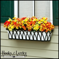 "72"" Arch Decora Window Box with White Galvanized Liner"