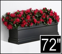 72in. Black Supreme Fiberglass Window Box