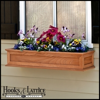 "72"" Cedar Framed Cottage Window Box w/ Liner Option"