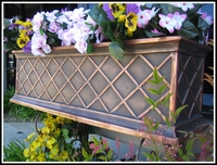 72in. Copper ArmoreCoat La Fleur Window Box