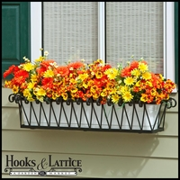 "72"" Del Mar Decora Window Box  w/ White PVC Liner"