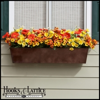 72in. Galvanized Window Box - Bronze