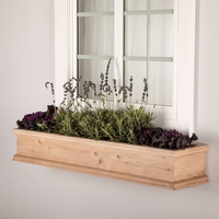 72in. Laguna Cedar Window Box with Optional Liner