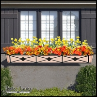 "72"" Medallion Decora Window Boxes w/ Real Copper Liner"