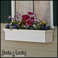 "72"" Newport Premier Direct Mount Flower Box"