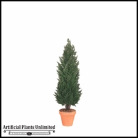 "72"" Outdoor Artificial Cypress Shrub"