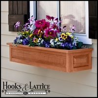 "72"" Raised Panel Cedar Window Box w/ Liner Option"