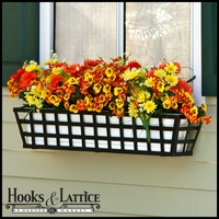 72in. Santiago Decora Window Box w/ (2) Vinyl Liners