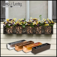 "72"" Sonoma Ivy Aluminum Window Box"