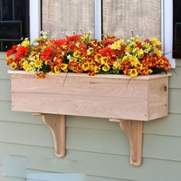 72in. Traditional Wood Planter Box