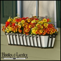 "72"" Venetian Decora Window Box with White Galvanized Liner"